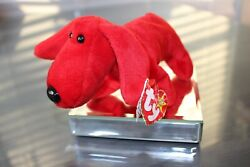 Rare Retired Ty Beanie Baby Rover Style 4104 - Pvc Pellets And Collectible Errors