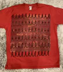 The Beatles 2008 Red Mens Large Tshirt