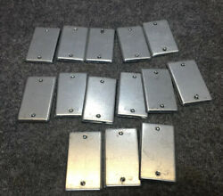 New Lot Of 14 Steel City 58-c-1 Blank Cover Plate For Utility Outlet Box 2-1/8w