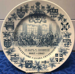 Collectible Centenaire Canada Centennial Plate 9 3/4 1867 - 1967 Woods And Sons
