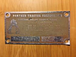 Panther Tractor Corporation Sticker Badge Vintage Antique Garland Texas