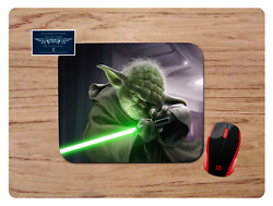 Yoda With Lightsaber Mousepad Mouse Pad Home School Office Gift Star Wars