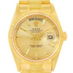 Rolex Day-Date President Yellow Gold Tapestry Dial Mens Watch 18248