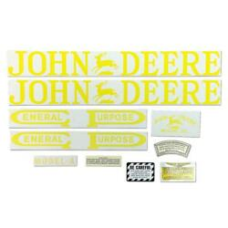 Fits John Deere A Unstyled Tractor Decal Set Vinyl Cut Free Shipping