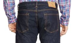 Polo Varick Buttoned Fly Slim Straight Chambers-wash Selvedge Jeans