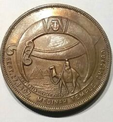 Pgasteelers1il. Chicago 1905 Frank C. Roundy Imperial Potentate Masonic Medal