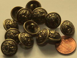 144 Pcs 1 Gross Domed Heavy Antiqued Brass Tone Metal Buttons 5/8 16mm 5006