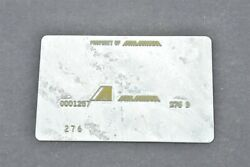 Air Aruba Airlines Validation Plate