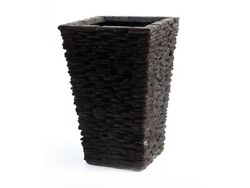 31 T Stone Planter Cast Resin Composite Stacked Stones One Of A Kind Modern