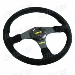 Universal 340mm Racing Steering Wheel With Suede Leather For Momo Hub X1