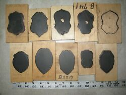 10 Texas Police Fire Dept Badge Leather Craft Cutting Die Punch Tool Mold Lot 4
