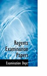 Regents Examination Papers By Dept New 9780559375279 Fast Free Shipping-,