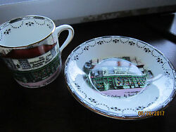 Rosina London Dickens Old Curiosity Shop Cup And Saucer Set Bone China Antique
