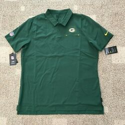 Nike Dry Mens Short Sleeve Polo Shirt Green Size 2xl Nfl Green Bay Packers