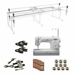 Janome 1600p-qc Grace Q-zone Hoop Frame With Speed Control Combo 8