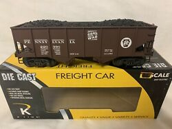 ✅k-line By Lionel Die Cast Pennsylvania Coal Goes To War 2 Bay Hopper O Scale
