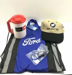 FORD Set Blue CINCH BAGcoffee Cup Buick Hat Ford Keychains Bottle Opener
