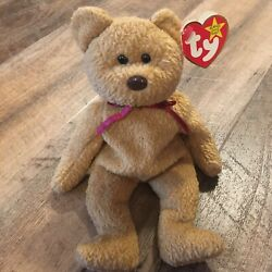 Ty Curly Beanie Baby Retired Rare Brown Nose Authentic 1993/1996 Tag Errors