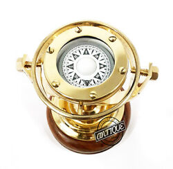 Gifts For Marines/navy Old / Compasses Gimablled Dial Maritime Collectibles.