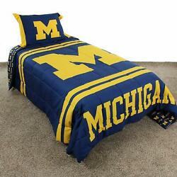 College Covers Michigan Wolverines Comforter Set, Twin Team Color