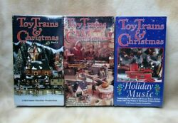 Toy Trains And Christmas Vhs Tapes Lionel Dept 56 American Flyer Lot Of 3 Sealed