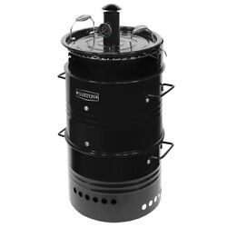 Barrel Pit Charcoal Smoker Grill Bbq Pizza-oven Fire Pit Utensils Hanging Hooks