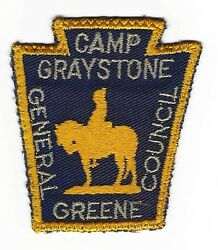 Boy Scout Camp Graystone 50's Pp Thin Letters General Greene Cncl  Nc