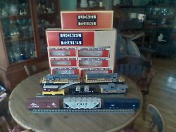 Lionel Erie-lacawana Sd-40 Powered A And Dummy B Freight Set 8 Pieces