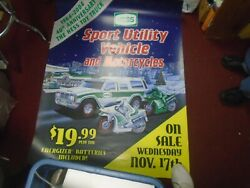 2004 Hess Truck Store Advertising Sign Toy Truck Rare 53x41 40th Anniversary