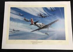 Jet Hunters by Robert Taylor - Mustang - Me262 - WWII Military Art 4 Autographs