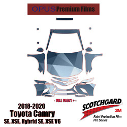 3m Pro Series Precut Paint Protection Kit For Toyota Camry Se 2018-2019 Full