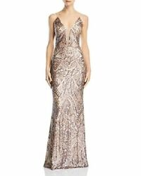 New Aqua Deco Sequined Gown Prom Evening Women#x27;s Dress Size 0 NWT $39.20