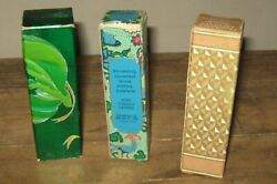 Vintage Lot Of 3 Avon Bottles Perfume Cologne With Boxes