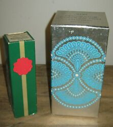 Vintage Lot Of 2 Avon Bottles Perfume Cologne With Boxes