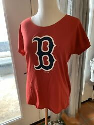 47 Forward red Boston t shirt cap sleeve with size s p euc