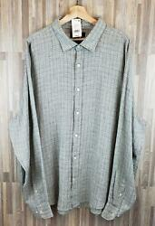 Bloomingdaleand039s - The Menand039s Store Woven Linen Shirt Color Agave Combo Nwt 98