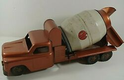 Structo 1950's Toys Ready Mix Concrete Truck Pressed Steel Vintage 21''