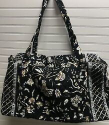 Vera Bradley Retired Rare Crabtree And Evelyn Exclusive Large Duffel Bag