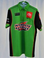2019 Kyle Busch Interstate Monster Not Race Used Nascar Pit Crew Shirt. Small