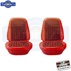 1969 69 Camaro Houndstooth Front Seat Upholstery Covers Pui New