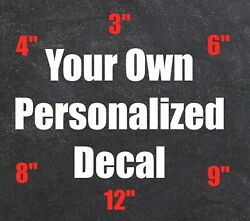 Custom Personalized Stickers Vinyl Decals Car Window Lettering Business Cup Name $7.99