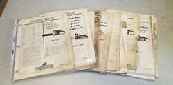 Vintage Mcculloch Chainsaw Parts List Manual Lot Eager Beaver Power Pro Titan