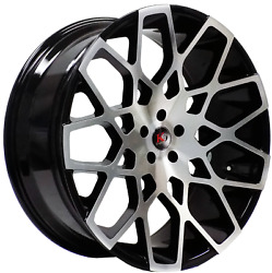 4 Four 22and039and039 K9 966 22x9.5+15 5x139.7 5 Lug Gloss Black Machined Face Ram Dodge