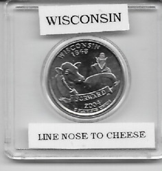 Wisconsin Statehood Quartererror Coinline Nose To Cheese 2004 Dsealed