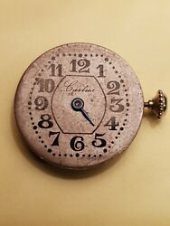 Early Watch Movement And Dial. 8 Ligne