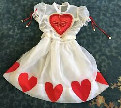 Vintage 1950s Sheer Girl's Party Dress Valentine's Day Queen of Hearts Lace Tier $495.00