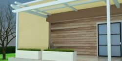 90sun Shade Fabric For Pergola Cover Porch Vertical Screen 8x16ft,beige Durable