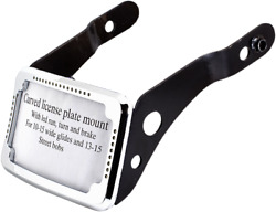 Cycle Visions Cv4650 Curved Slick Signal License Plate Frame And Mount Chrome