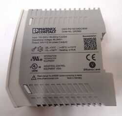 Phoenix Contact Power Supply Uno-ps/1ac/24dc/60w Input 100-240v Tested And Working