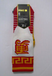 Rare! 2017 Chinese New Year Stance Golden State Warriors Socks NWT Sz L (9-12)